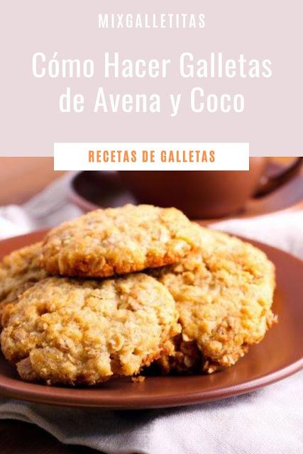 Cómo hacer galletas de avena y coco