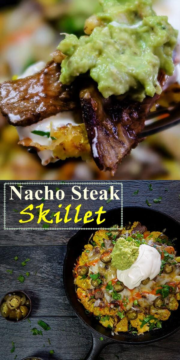 Nacho Steak Skillet #Dinnerrecipes