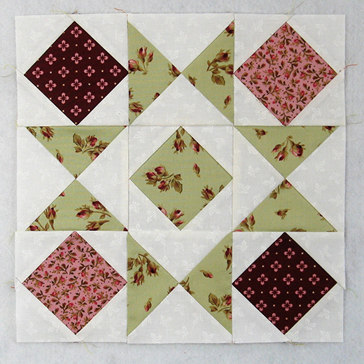 Blocks and Stars Traditional Quilt Block designed by Elaine Huff of Fabric406