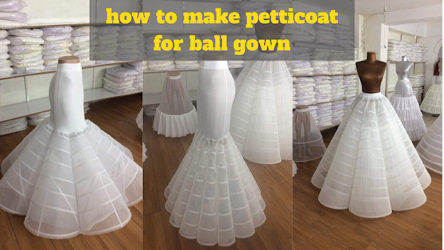 How to make a Petticoat for ball gown step by step 2020 (Tutorial)