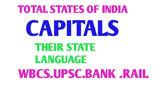 Lists india's 29 states and their capitals and state language