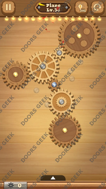Fix it: Gear Puzzle [Plane] Level 36 Solution, Cheats, Walkthrough for Android, iPhone, iPad and iPod