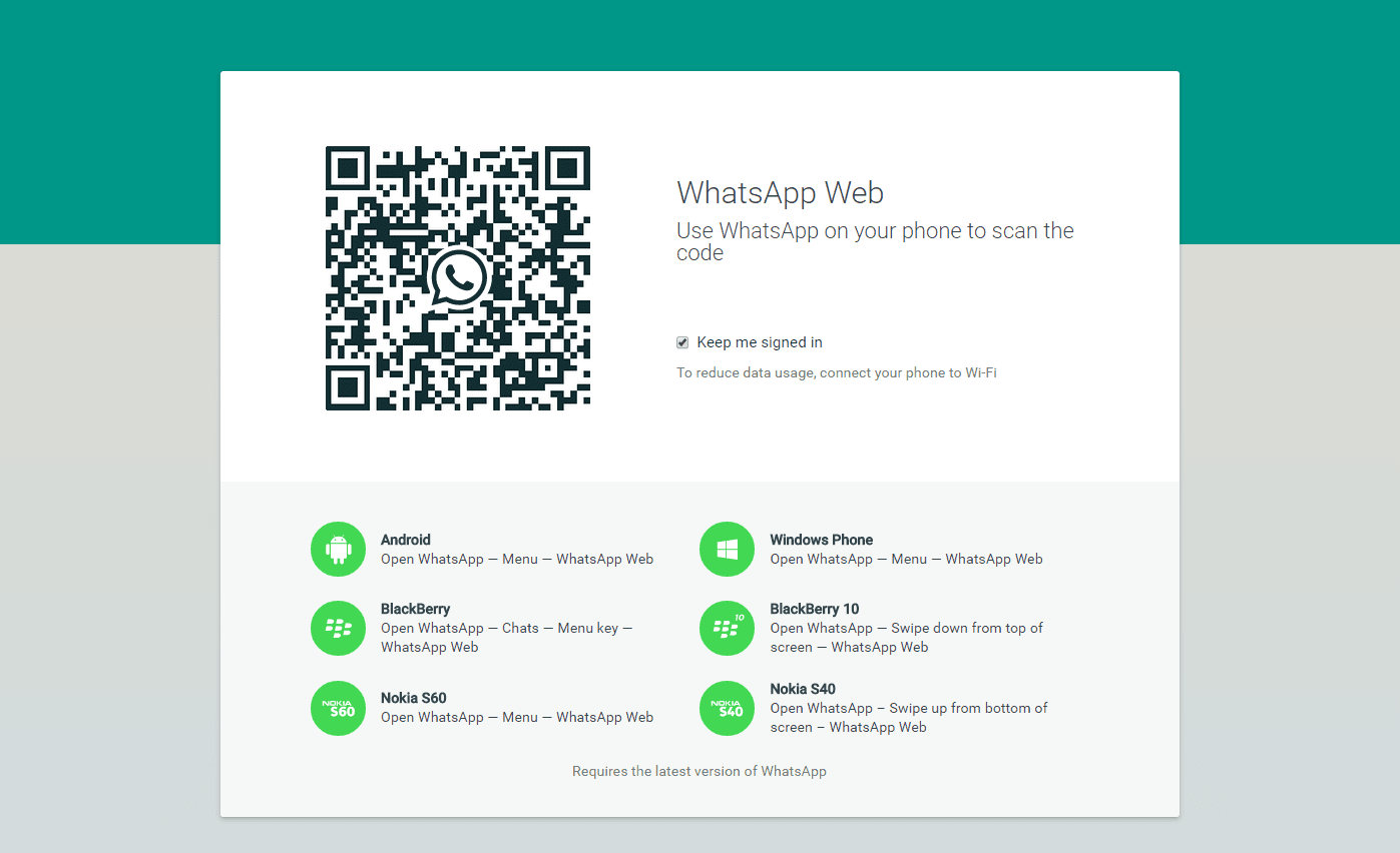 WhatsApp Web for PC