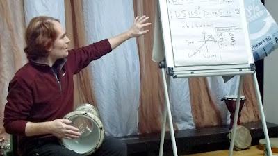 Adam Warne Rhythmic Ginger teaching Cardigan Small World Theatre February 2016