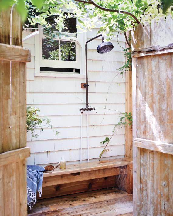 Outdoor shower | Image via Martha Stewart Living