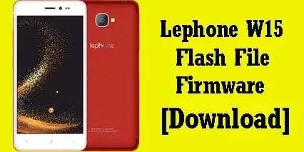 Lephone w15 flash file firmware