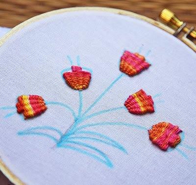 Hướng dẫn thêu hoa tulip - Hình4