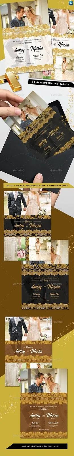 contoh undangan pernikahan psd full