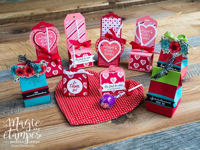 Boites Stampin' Up! pour la St-Valentin