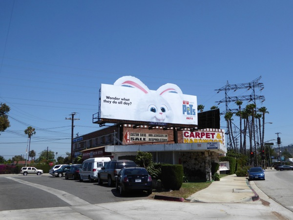 Secret Life Pets bunny Snowball billboard