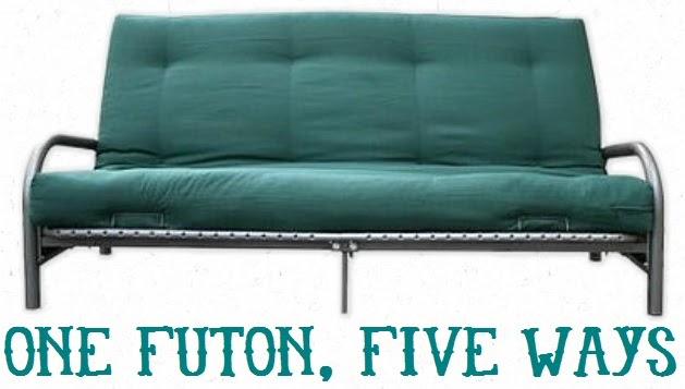 One Futon Five Ways Studio Style