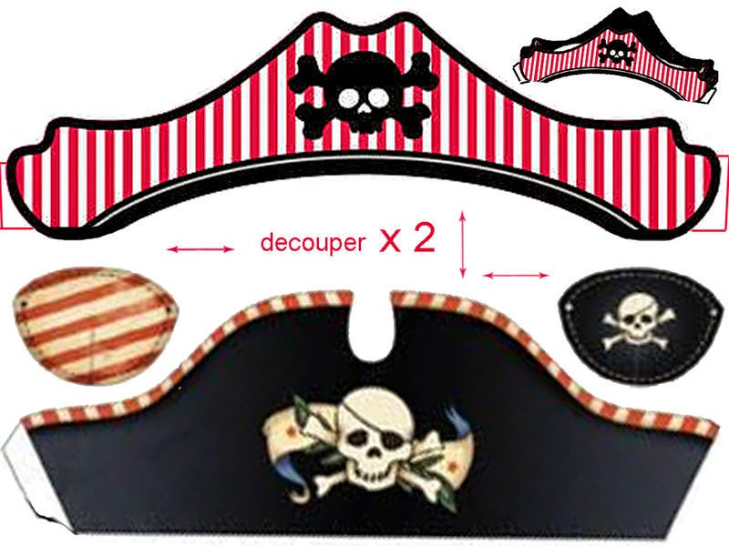 free printable pirate hat template