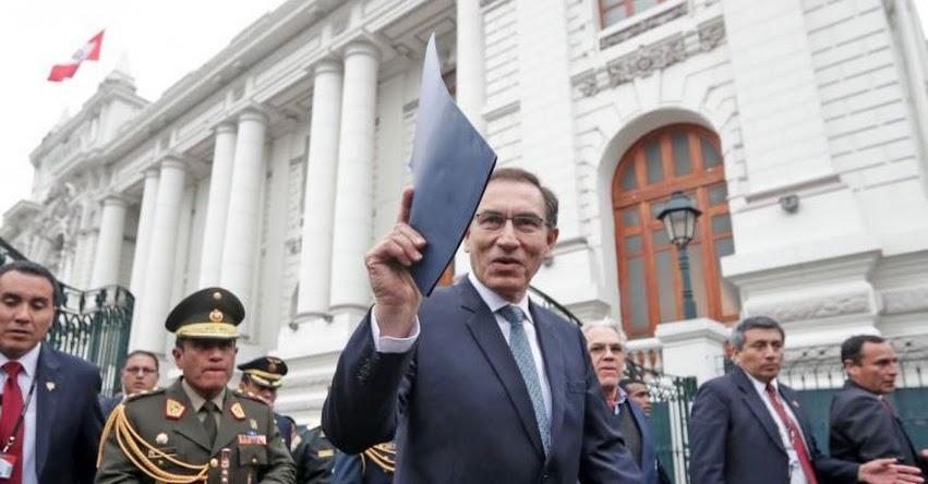 Presidente Martín Vizcarra presentará hoy el Proyecto de Ley que declara en emergencia al Ministerio Público
