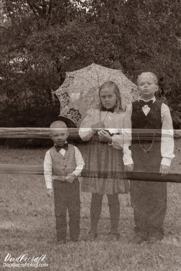 Ghost hunting in the cemetery! Haunting Ghost Children caught on camera from Victorian age! Halloween Photograph Editing Tutorial, perfect for chilling Halloween decor!