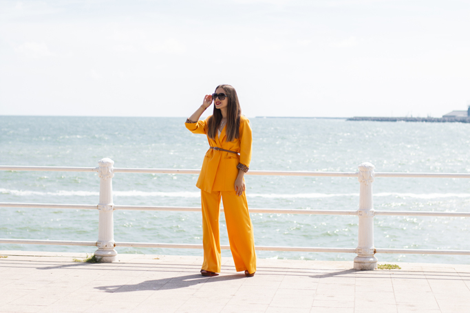 adina nanes yellow 70s suit