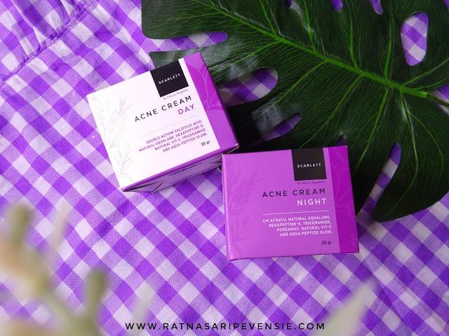 Review Scarlett Whitening Acne Day & Night Cream