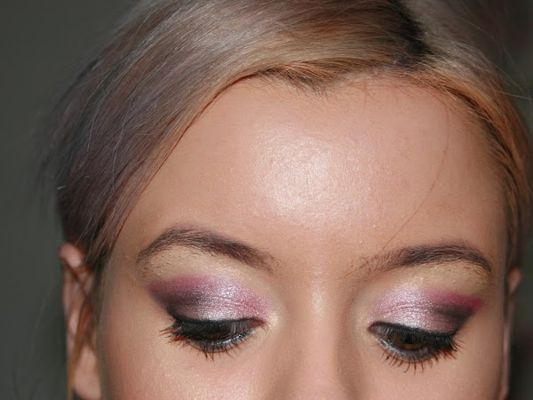 A fancy makeup look - pink sparkle