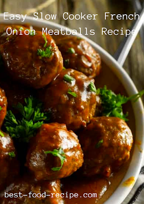 Easy Slow Cooker French Onion Meatballs Recipe
