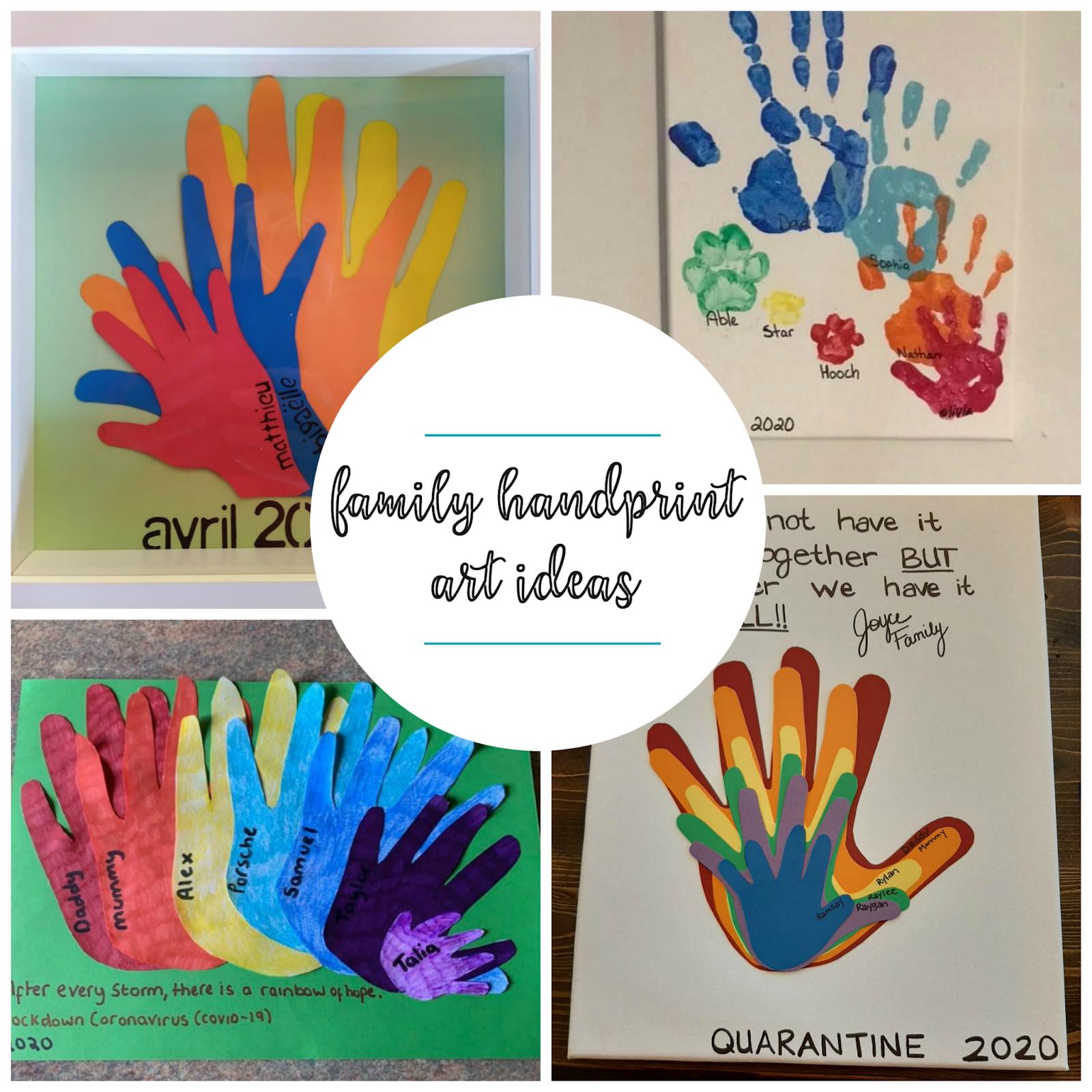 Family Handprint Art Ideas Messy Little Monster