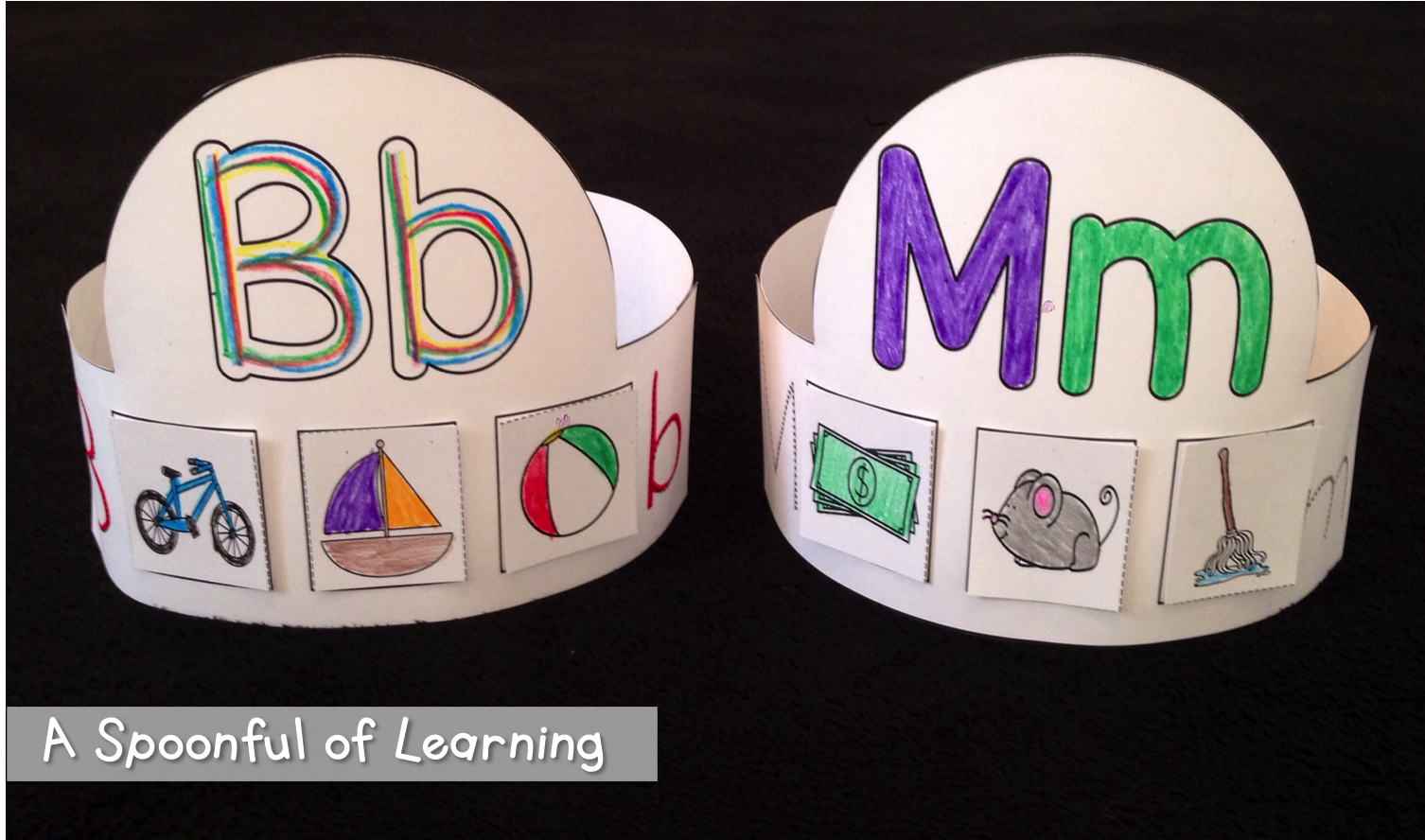 A Spoonful Of Learning Alphabet Hats