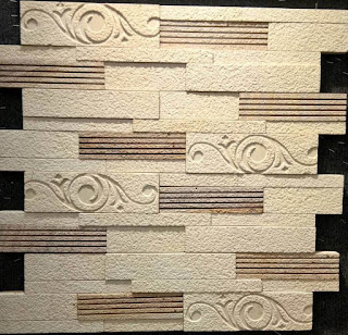 white stone wall cladding tiles