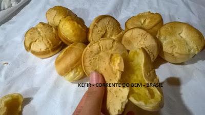 PÃOZINHO DE POLVILHO COM KEFIR DE LEITE