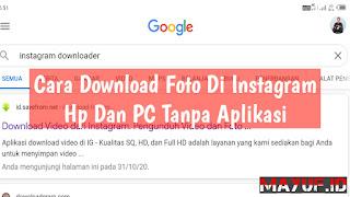 Cara Download Foto Di Instagram Hp Dan PC Tanpa Aplikasi