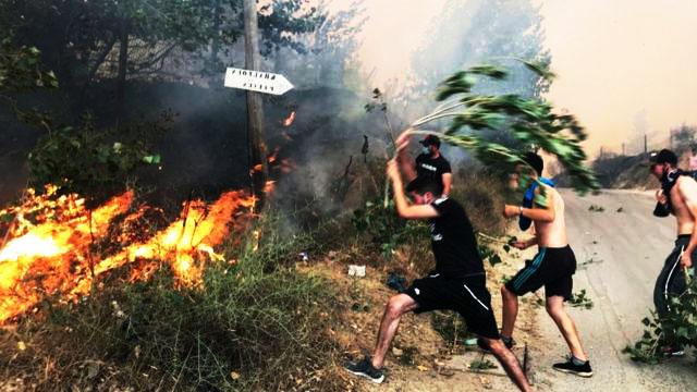 إرتفاع حصيلة قتلى حرائق الغابات في الجزائر  إلى 65 شخصًا