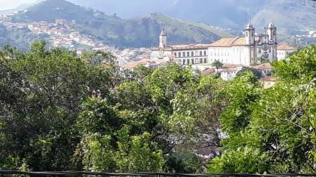 Vista a partir da Igreja de São Francisco de Paula em Ouro Preto