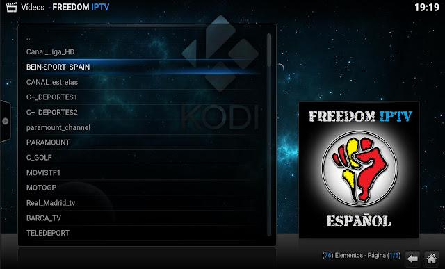 FREEDOM IPTV KODI ADDON