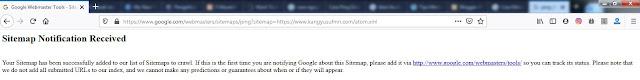 Cara Ping Sitemap Blog Di Google