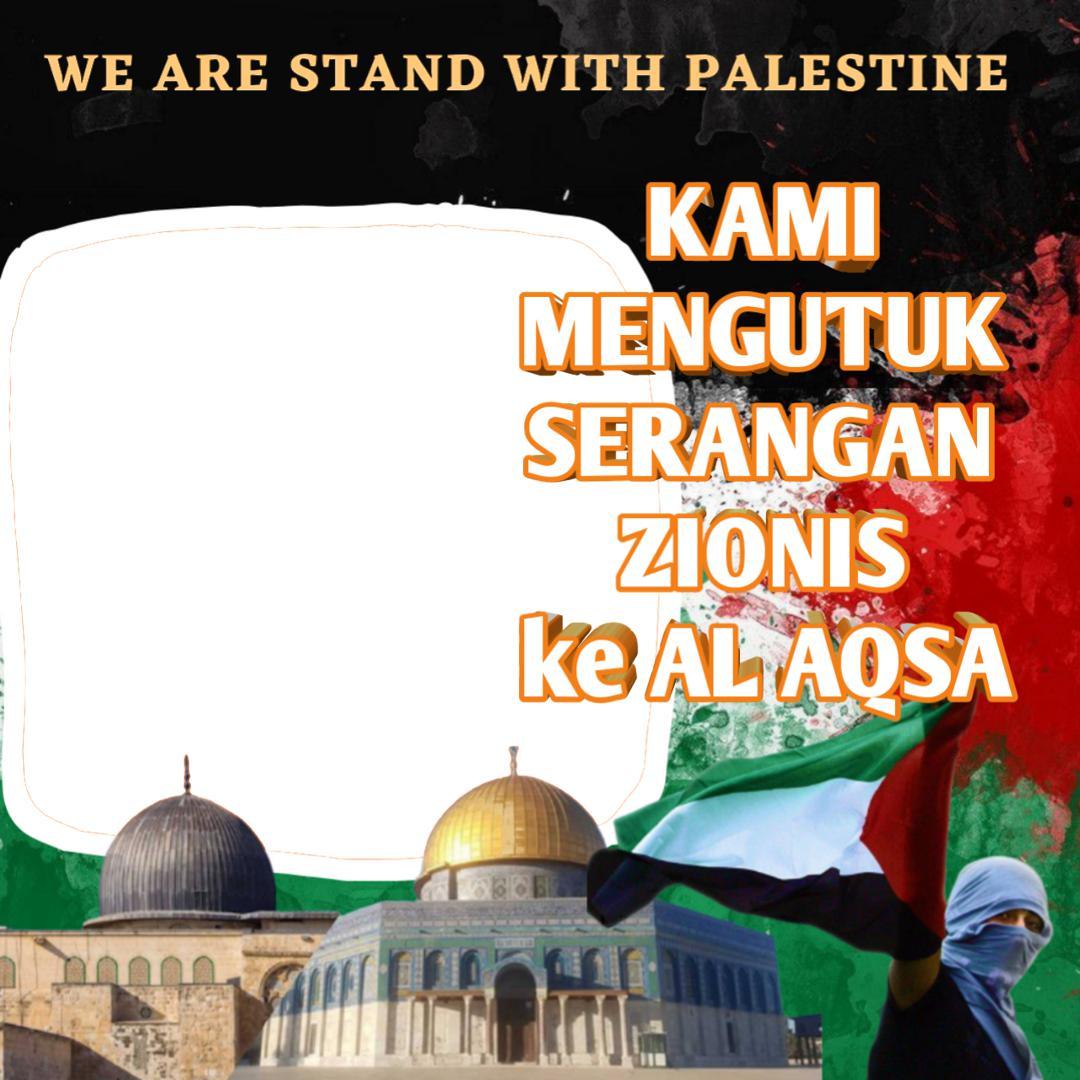 Desain Twibbon Kami Bersama Palestina untuk memberi dukungan