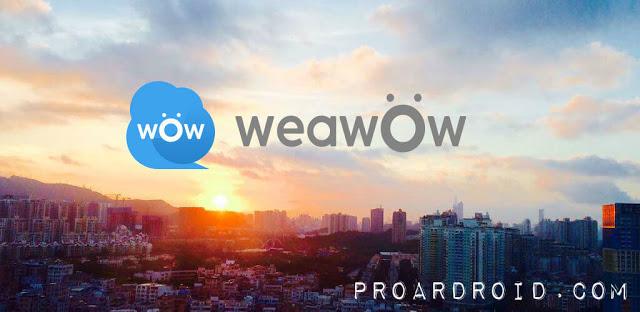 تطبيق Weather & Widget - Weawow v4.2.2 لتوقع حالة الطقس للأندرويد مجانا logo