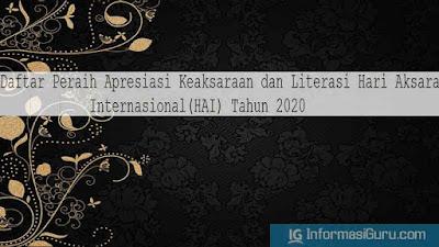 Download SE No 2270/C6/PM/2020 Tentang Peraih Apresiasi Keaksaraan dan Literasi Pendukung Hari Aksara Internasional (HAI) Tahun 2020