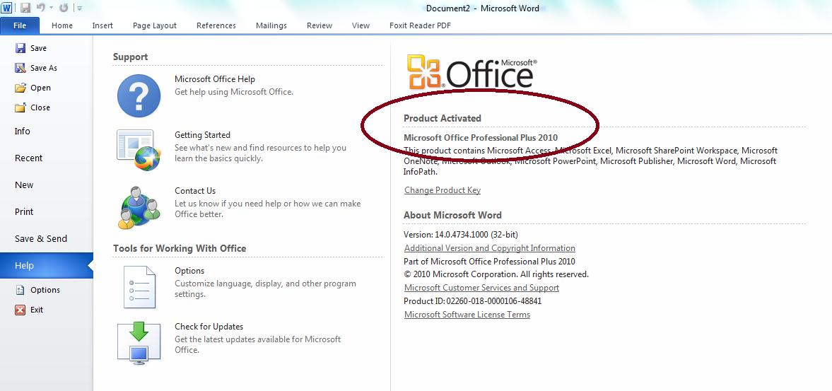 microsoft word office key