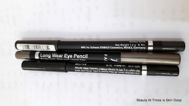 Faces Long Wear Eye Pencil in Grey, Smoke and Black Sparkle