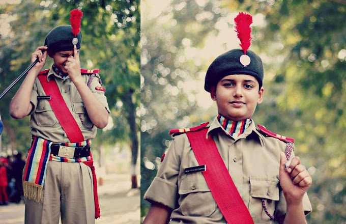 NCC cadets are getting army training
