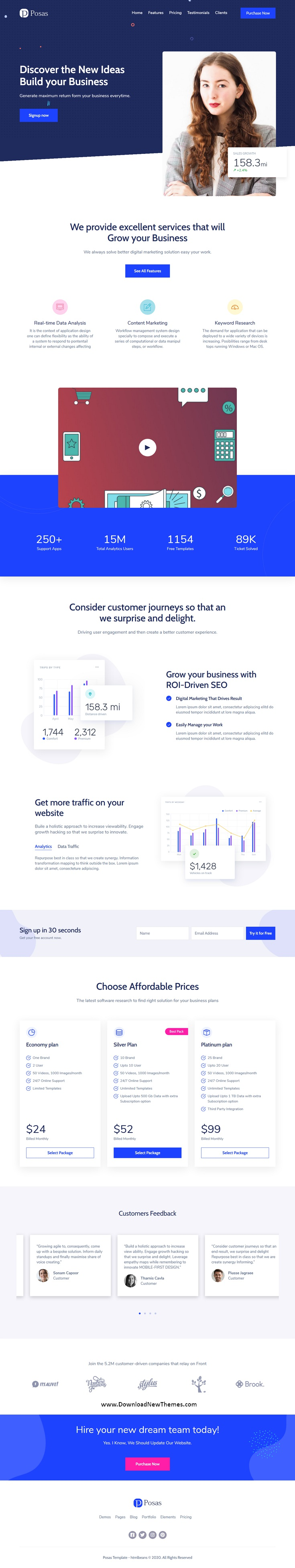 Saas Software Landing Page Template