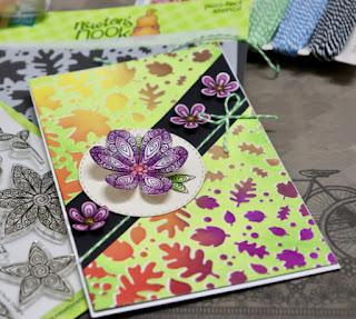 Bharati's card features Falling Leaves and Beautiful Blossoms by Newton's Nook Designs; #newtonsnook