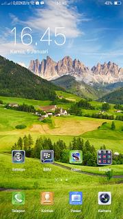 Cara menampilkan persentase baterai di Oppo F5