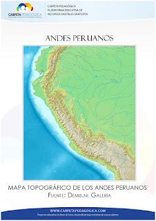 Cordillera de los andes peruanos, sectores y cadenas