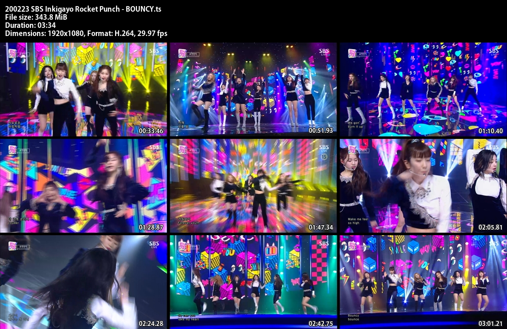 Inkigayo , Rocket Punch , BOUNCY, 1080p , Kpop, 2020