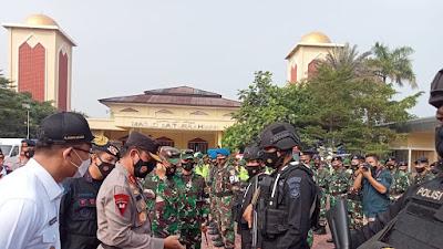 Jamin Keamanan Lebaran, Polda Banten Bersama Forkopimda Gelar Apel Pasukan Operasi Ketupat Maung 2021