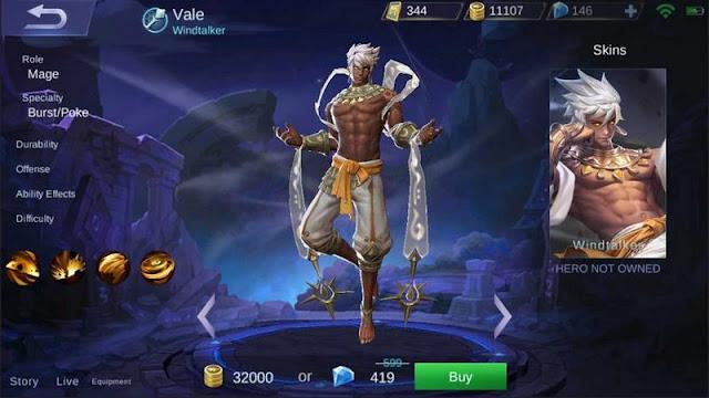 build item vale, build skill vale