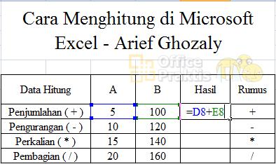 4 Rumus Matematika Di Microsoft Excel Cara Membuatnya Office Praktis