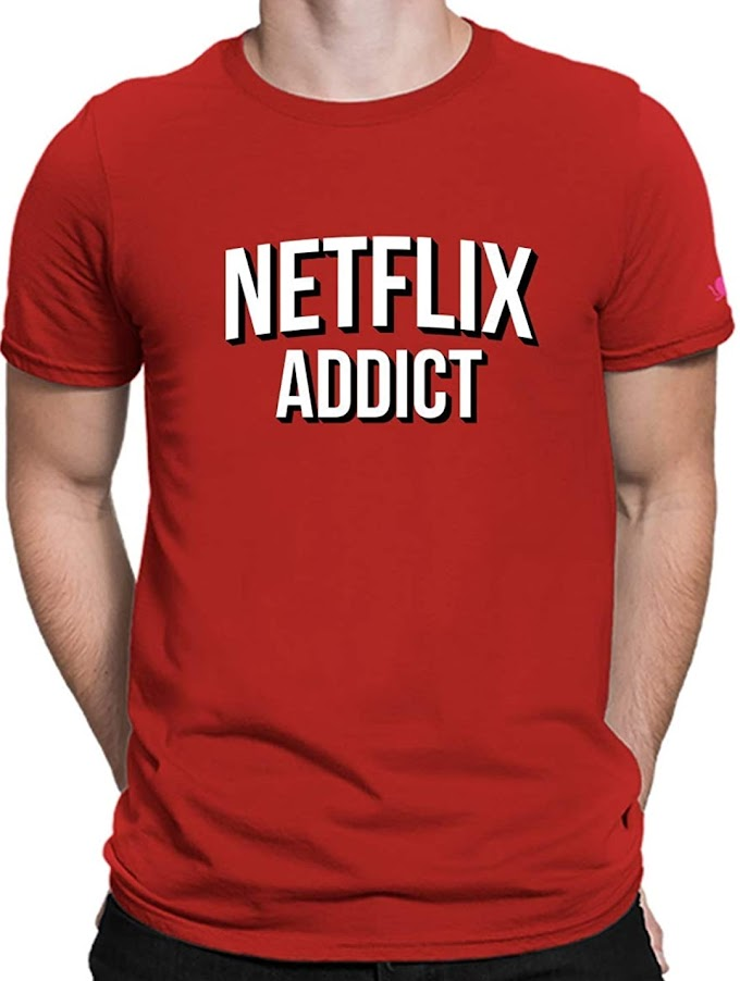 Men's tshirt netflix 50%off