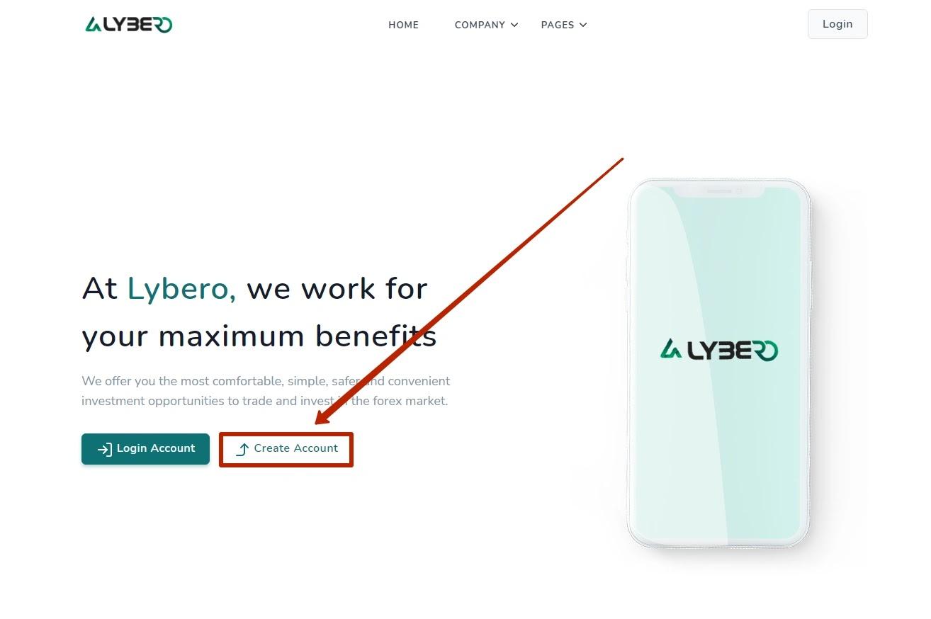 Регистрация в Lybero
