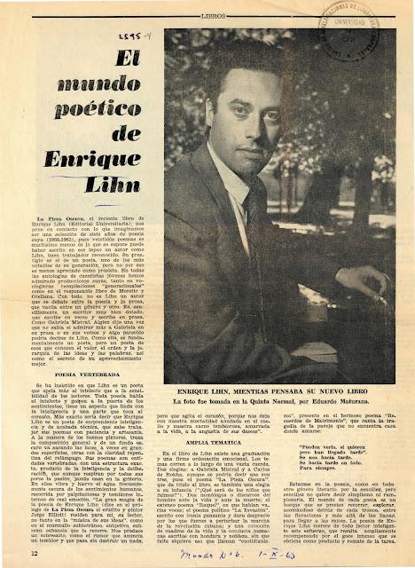 El mundo poético de Enrique Lihn