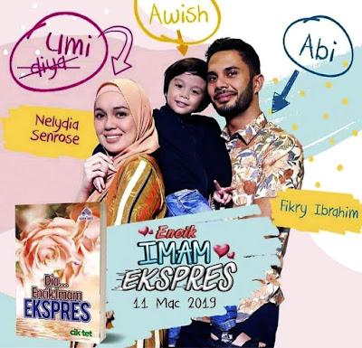 Nelydia senrose dan fikry ibrahim sebagai Pelakon Drama Encik Imam Ekspress