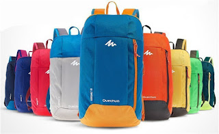 Quechua men and boy backpacks